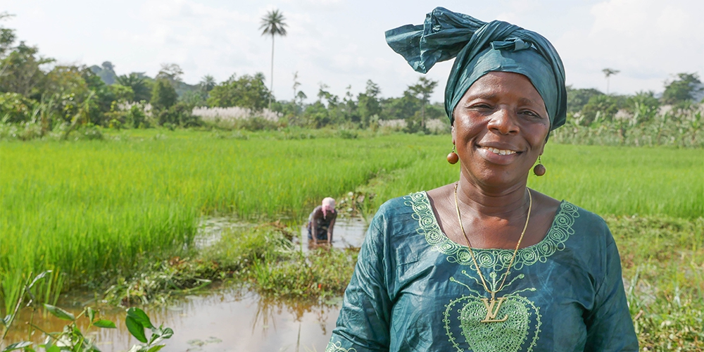 Annie leads a women's rice cooperative in a rural region of Liberia that once had an 85% unemployment rate. Today, her cooperative has over 3,000 members.