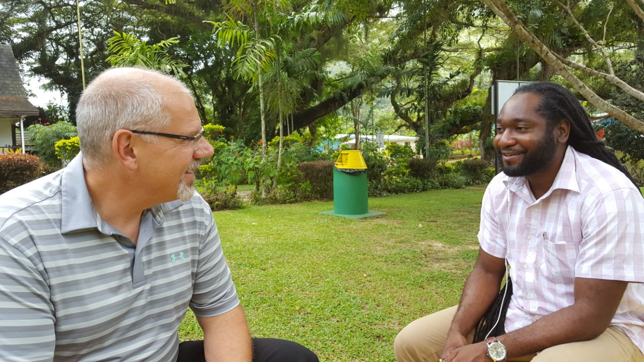 Jonathan and Rolan in Trinidad