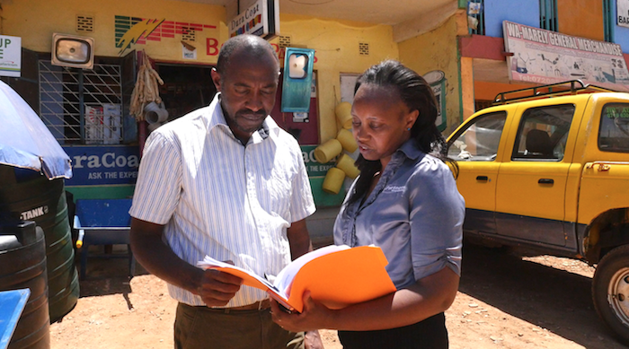 George with Grace, PW Partnership Manager in Kenya
