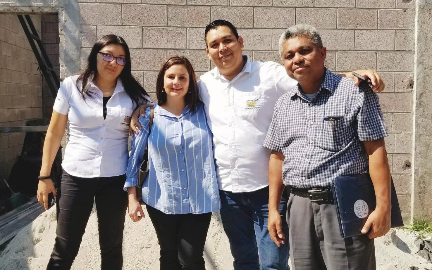 Yesenia, Partners Worldwide staff member Fabiola, Alex, and Pastor Chiacas