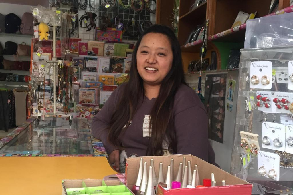 Sapana in her gift shop