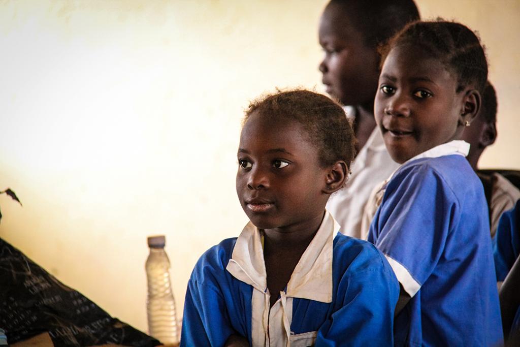 Children attending school in Kenya